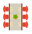top view dining room interior element vector image