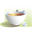 cup and fly vector image