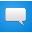 Paper Cut Speech Bubble Background vector image vector image