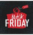 black friday black background gift box vector image vector image