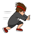 boy bully running vector image vector image