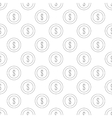 Dollar coin pattern seamless vector image