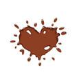 chocolate splash heart vector image