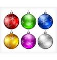 christmas color balls 10 3 v vector image