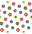 Circles Doodles Abstract Pattern Background vector image