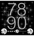 Diamond letters vector image