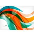 Green and orange lines modern abstract background vector image
