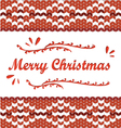 Merry Christmas Scandinavian style knitted pattern vector image