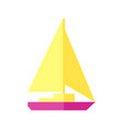sunny of a sailboat vector image