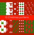 ten christmas different vector image