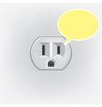 Plug socket faces vector image