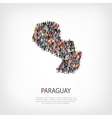 people map country Paraguay vector image