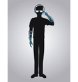 pictograh gamer virtual reality with glasses and vector image