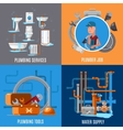 Sanitary fix and plumbing concept vector image
