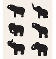 image of an elephant silhouette vector image