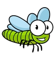 Cute little kids cartoon flying dragonfly vector image