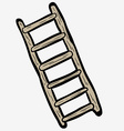 freehand drawn cartoon ladder vector image