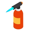 Blowtorch icon isometric 3d style vector image