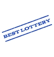 Best Lottery Watermark Stamp vector image
