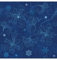 Floral background Christmas snowflakes vector image