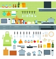 Kitchen interior with moder devices vector image