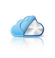Metallic cloud computing database vector image