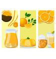 oranges cards orange products natural vector image