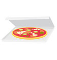 pizza in delivery box cartoon vector image