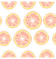 seamless pattern with grapefruit slices vector image