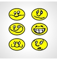Set of Cartoon Smilies vector image