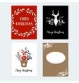 Set of Christmas New Year greeting journaling vector image