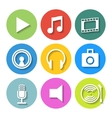 Set of Flat Media Icons vector image