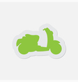 simple green icon - scooter vector image