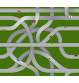 Winding roads and moving cars vector image