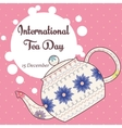 International tea day background with vintage vector image