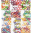 set of color rings abstract background vector image