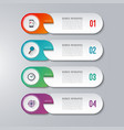 modern infographic template with 4 options vector image