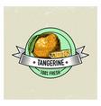 tangerine vintage hand drawn fresh fruits vector image