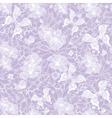 Gentle seamless violet vintage pattern vector image