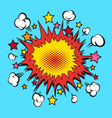 Comic book explosion element vector image
