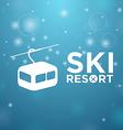 Ski resort ropeway on blue background vector image vector image