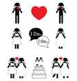 Gay woman wedding vector image