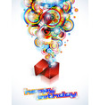 happy birthday colorful vector image vector image