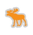 Flat web icon on white background Elk vector image