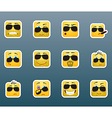 Sunglasses smile stickers set vector image vector image