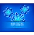 christmas ornament blue background 10 SS v vector image