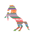 Colorful aboriginal horse pattern vector image
