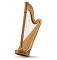 concert harp national irish string musical vector image