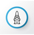 Gnome icon symbol premium quality isolated dwarf vector image