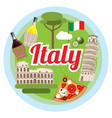 love italy concept vector image